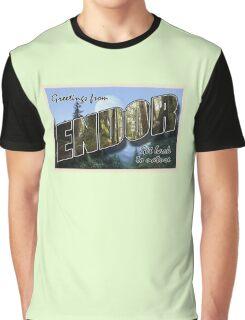 Endor Postcard Graphic T-Shirt