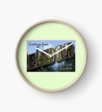 Endor Postcard Clock