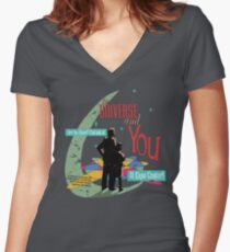 The Universe And You Women's Fitted V-Neck T-Shirt