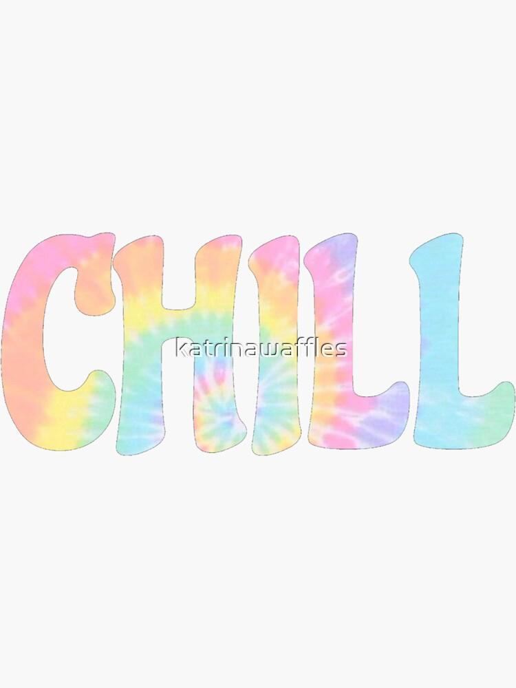 CHILL - teñido anudado trippy hippie rainbow de katrinawaffles