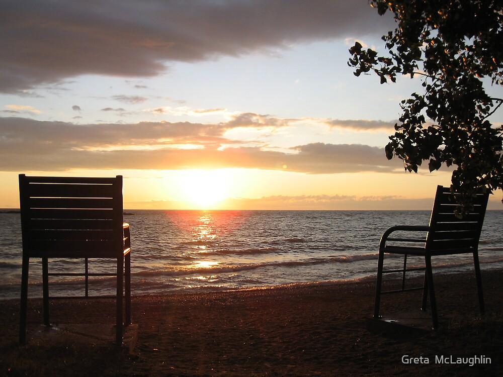 Evening Blanket over Lake Huron by Greta  McLaughlin