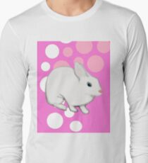Osterhasen-Kaninchen-Rosa Langarmshirt