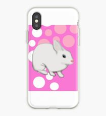 Osterhasen-Kaninchen-Rosa iPhone-Hülle & Cover