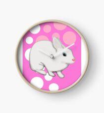 Osterhasen-Kaninchen-Rosa Uhr