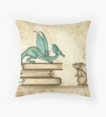 A Curious Encounter Throw Pillow