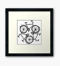 cycling infinity - vintage keep biking - bike triforce pattern Framed Print