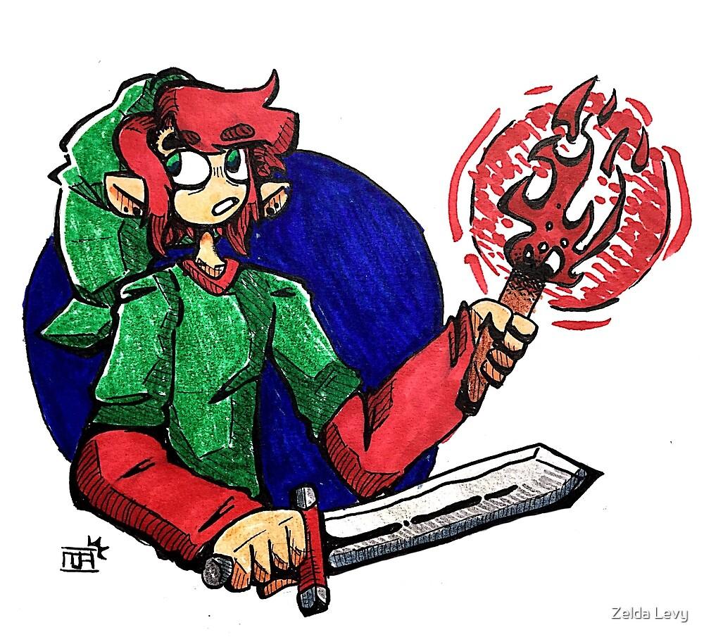 Legend of zelda Link torch by Zelda Levy