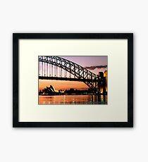 Sydney Dawn Framed Print