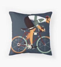 Vintage Cyclist Racing - Athlete Tour de France Throw Pillow