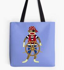Sock Monkey Pirate Tote Bag