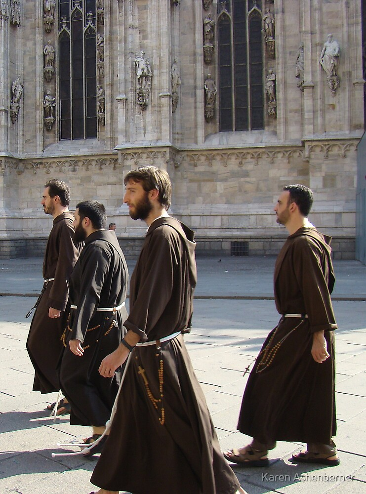 Monks on the Move by Karen Ashenberner