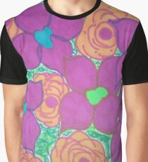 Bold Summer Abstract Flowers Graphic T-Shirt