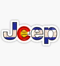 Colorado flag Jeep letters Sticker
