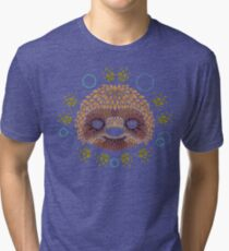 Sloth Face Tri-blend T-Shirt