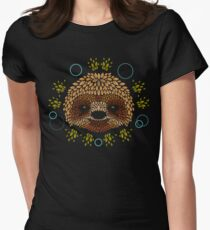 Sloth Face Women's Fitted T-Shirt