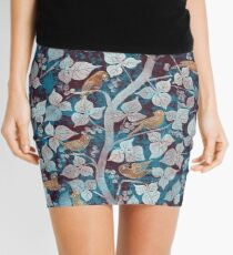Birds in Blue Mini Skirt