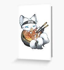 Arctic Ramen Fox Greeting Card