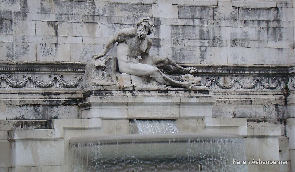 Fountain In Rome by Karen Ashenberner