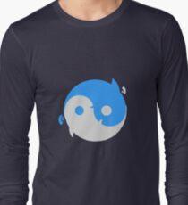 Yin yang whales Long Sleeve T-Shirt