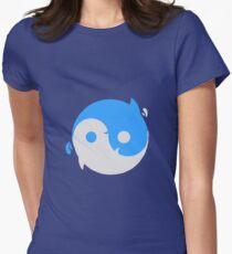 Yin yang whales Women's Fitted T-Shirt