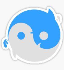 Yin yang whales Sticker