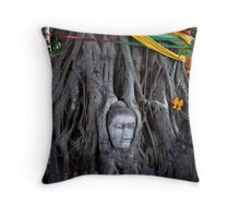 Buddha Face Throw Pillow