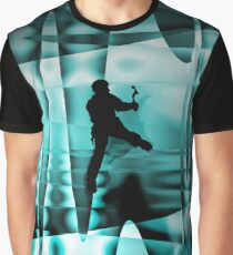 Climbing the frozen waterfall Graphic T-Shirt