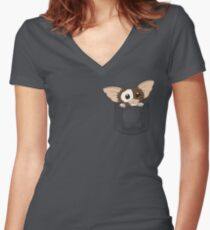 Pocket Gizmo  Women's Fitted V-Neck T-Shirt