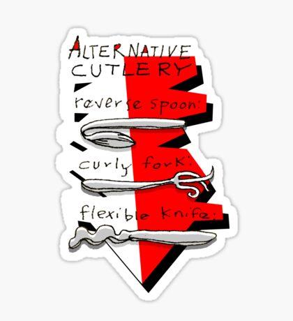 Alternative Cutlery Sticker