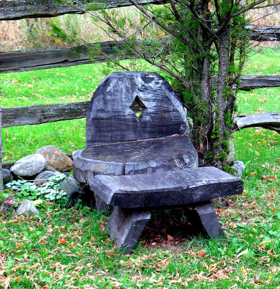 tree stump seating by nikspix