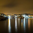 Views from Cascais at night by SteveHphotos