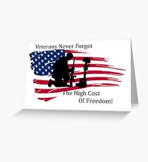 Cost of Freedom Greeting Card
