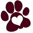 Paw prints on my heart by Lacey  Ewald