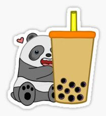 Panda + Boba  Sticker