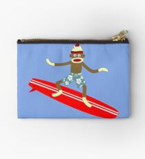 Sock Monkey Surfer Studio Pouch