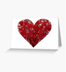 Red leaf heart pillow Greeting Card