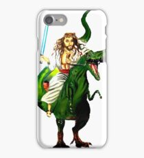 Jesus Riding a Dinosaur with a Lightsaber iPhone Case/Skin