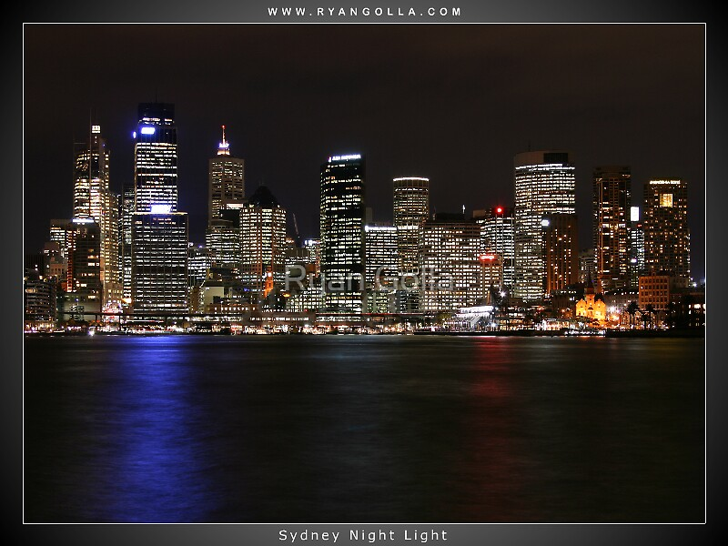 Sydney Night Light by Ryan Golla