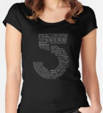 Babylon 5 Quotes - Grey Women's Fitted Scoop T-Shirt