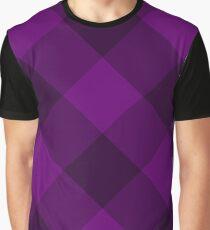 Purple plaid Graphic T-Shirt