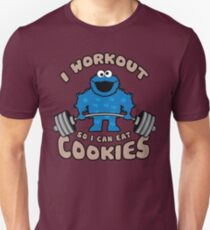 I Workout So I Can Eat Cookies (Cookie Monster) Unisex T-Shirt