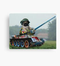 Tank Pug Canvas Print