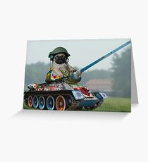 Tank Pug Greeting Card