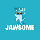 Totally Jawsome Shark with Sunglasses by JessDesigns
