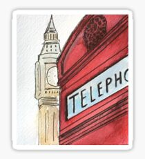 British Icons in Perspective  Sticker