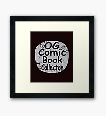 Original Comic Book Collector Retro Vintage Style T-Shirt Framed Print