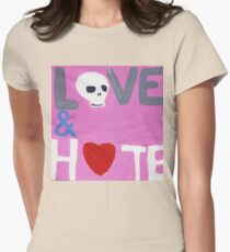 love and hate Women's Fitted T-Shirt