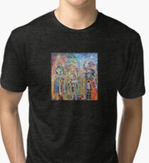 Abstract Graffiti Style Figures Tri-blend T-Shirt