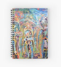 Abstract Graffiti Style Figures Spiral Notebook