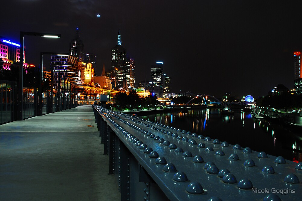 Back at the yarra river foot bridge  by Nicole Goggins
